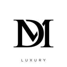 Dm Logo Design Vector
