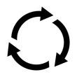rotate arrow icon vector template