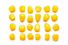 Yellow Corn Seeds Isolated On ...