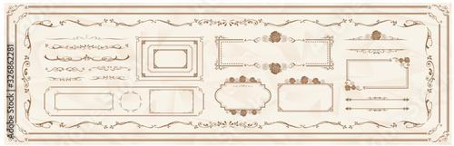 Fotografie, Obraz decorative gold frame set Vector