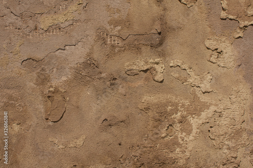 Fotografie, Obraz Old amd destroyed concrete wall texture background.
