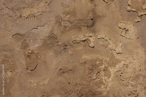 Fotografie, Obraz Old amd destroyed concrete wall texture background.