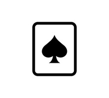Spades Ace Icon Vector Illustr...