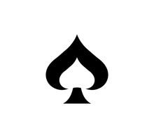 Spades Ace Icon Vector Illustr...