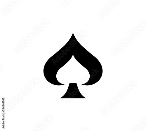 Photo Spades Ace Icon Vector Illustration