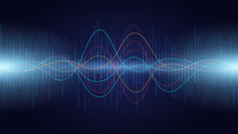 Colorful Sound Wave Audio Spec...