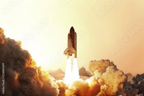 Obraz na plátně Rocket liftoff
