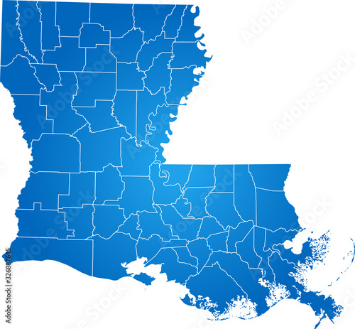 map of Louisiana Canvas
