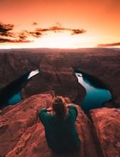 Sunset In The Grand Canyon Arizona