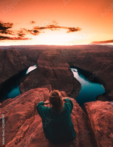 Fotografía Sunset in the grand canyon Arizona