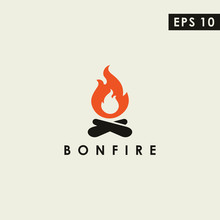 Bonfire Modern Logo Design Vec...