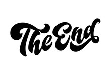 The End Lettering Quote. Hand ...