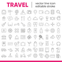 Set Of Vector Line Icons And S...