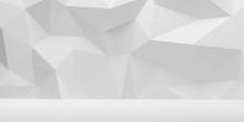 Abstract Wall Polygon White Ge...
