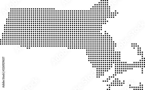 Fotografie, Obraz map of Massachusetts
