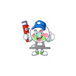 Smiley Plumber lottery machine ball on mascot picture style
