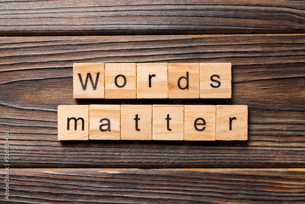 Fototapeta Words matters word written on wood block. Words matters text on table, concept