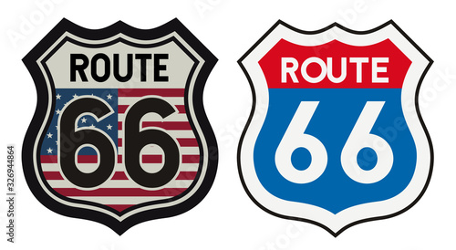 Photo Route 66 vintage metal sign