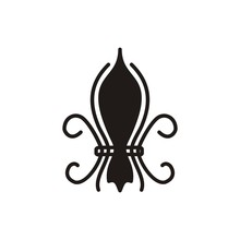 Fleur De Lis Logo Icon Lili Flower Illustration