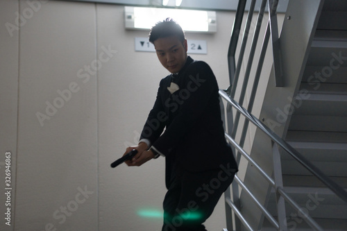 Fotografie, Obraz 非常階段での銃撃戦2