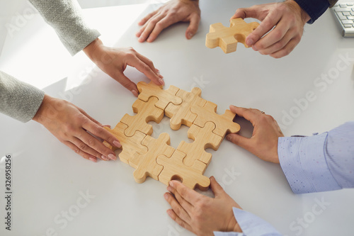 Photo Concept of partnership creative work startup teamwork team business people