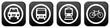 4 Buttons: Verkehrsmittel Auto, Bus, bahn oder Fahrrad