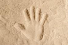 Handprint On The Sand Hand