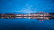 Coimbra with a perfect mirror on the Mondego river