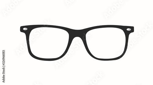 Obraz Vector Illustration of a Black Glasses Frame - fototapety do salonu