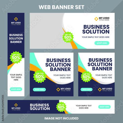 Fotografie, Obraz Modern web banner ad set template Premium Vector