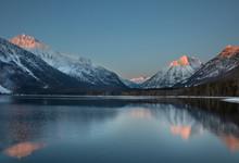 Lake McDonald Sunset Mountain ...
