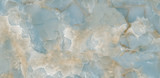 Fototapeta Kamienie - aqua onyx colorful crystal marble texture with icy colors, polished quartz stone background, it can be used for interior-exterior home decoration and ceramic tile surface, wallpaper.