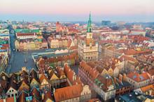 Poznań, Wschód Słońca Nad Starym Rynkiem
