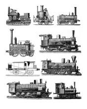 Antique Locomotive Train Colla...