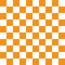 市松模様 オレンジ L