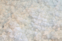 Background Coarse-grained Salt, Spices Used In Cooking, Close-up And Shallow Depth Of Field