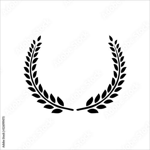 Circular laurel foliate vector icon Tablou Canvas