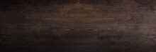 Dark Brown Wooden Board Background Patterned Surface.