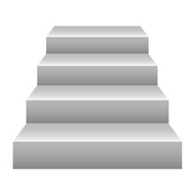 Picture Of Realistic Stairs On A White Background