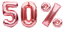 Rose Golden Fifty Percent Sign...