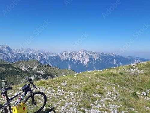 mountain bike in mountains #327011233