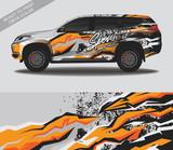 Fototapeta Młodzieżowe - Car wrap decal design vector, custom livery race rally car vehicle sticker and tinting.