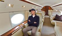 Man Asleep Inside Of A Jet.