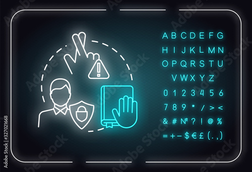 Keep your promises neon light concept icon Wallpaper Mural