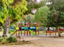 Multicoloured Playground In Tr...