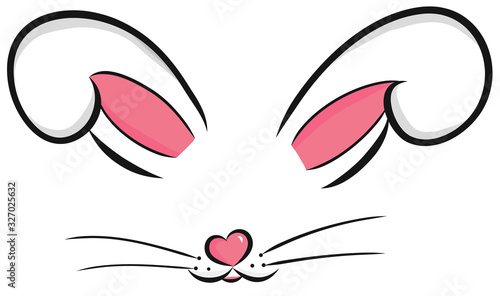 Fotografia Easter bunny cute vector illustration drawn by hand