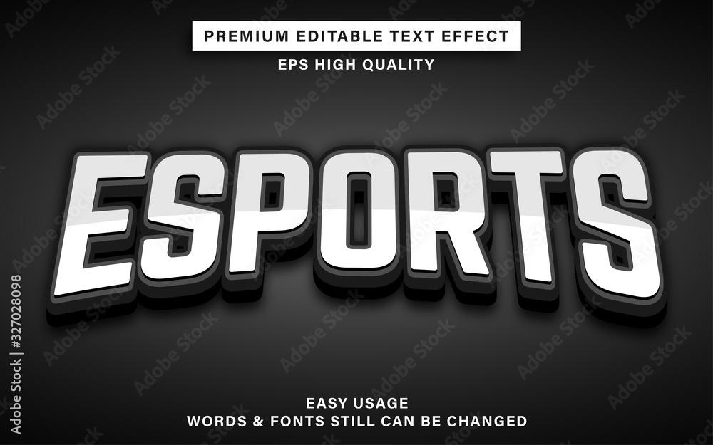 Fototapeta esports text style effect