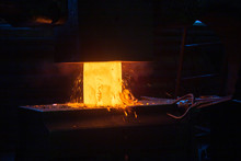 Close-up Picture Of Hot Steel ...
