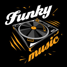 Funky Music - Turntable Poster Design