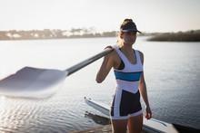 Female Rowing Team Training On...